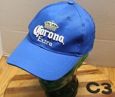 CORONA EXTRA BEER HAT BLUE EMBROIDERED STRAPBACK ADJUSTABLE VERY GOOD COND C3