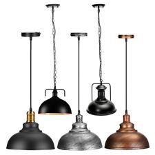 Vintage Ceiling Hanging Lighting Fixtures Loft Metal Shade Pendant Lamp Light