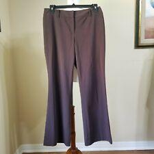 Womens Alfani Essentials Dress Pants Sz 10 Slacks Brown Front Zip Belt Loops