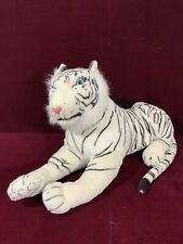 PLUSH WHITE TIGER BLUE EYES-JUNGLE WILDCAT Stuffed ANIMAL Kelly Toy USA 40""