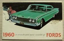 FORD Car RANGE USA Sales Brochure 1960 #6010 GALAXIE Falcon FAIRLANE Thunderbird