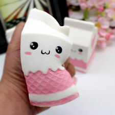 Kawaii Squishy Milk Carton Phone Straps Slow Rising Soft Stress Reliever Kid Toy