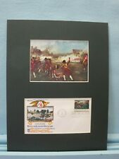 The Battles of Lexington & Concord & First day Cover of its own stamp
