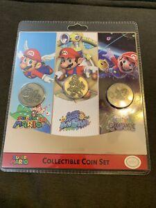 Super Mario collectible coin set new