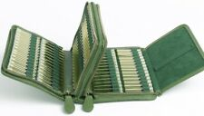 Taschenapotheke Kunstleder grün für 120 Globuli Mittel, mit/ohne Glasröhrchen