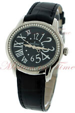 Audemars Piguet Millenary Ladies Black Dial Diamond Bezel 77301ST.ZZ.D002CR.01