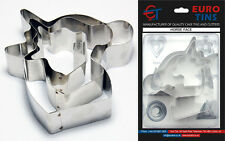 """Horse Shape Steel Cookie Cake Cutter 1"""" deep set of 3 - By Euro Tins"""