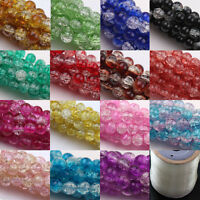 Czech Glass Crackle Cracked Loose Spacer Round Crafts Beads 6mm 8mm 10mm New