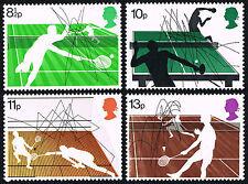 Gb 1977 Sc# 802-805 = British Racket Sports Set of 4 = Mint Set Vf Nh