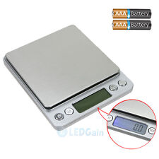 2000g x0.1g 2kg Electronic Digital Pocket Scale Jewelry Gold Balance Weight Gram