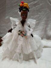 "Lot Of 2 Cute ""Chiquita� Doll Bahama Skirt/Fabric Vintage International Ethnic"