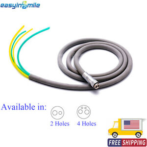 Easyinsmile Dental High Speed Handpiece Connector 2/4 Holes Silicone Tubing Hose