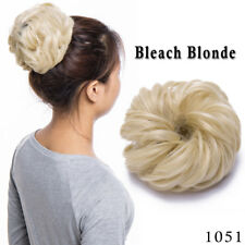 Curly Messy Bun Hair Piece Scrunchie Updo Cover Hair Extensions human style US