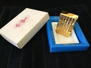 MEGA RAR ORIGINAL HADSON TRIUMPH OVP JAPAN LIFTARM FEUERZEUG GAS GOLD SELTEN