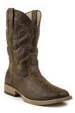 ROPER - Men's Square Toe Faux Leather Boots - Tan - 20900065 - NEW