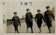 WW2 group of Ladies Woman ATS Auxiliary Territorial Service walking along road