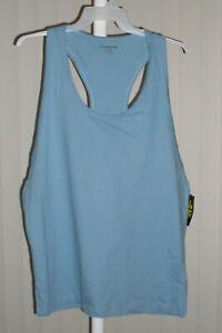 Shirt Tank Top Plain Blue Defect Gold's Gym Size Large