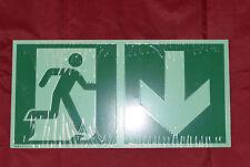 308753 PST Schild für Firmen Geschäfte Laden 30 x 7 cm • NOTAUSGANG •