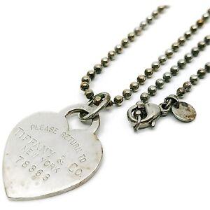 Tiffany & Co. Pendant Necklace Tiffany Heart Tag Silver 925 402567