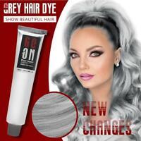 100ml Unisex Light Gray Hair Dye Cream Mud Dye Styling Cream DIY Coloring Hot