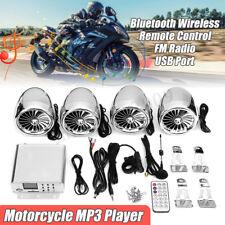 Marine 4 Speaker Motorcycle ATV bluetooth Audio Stereo Sound Amplifier System FM