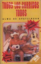 Alma De Apatzingan Todos Los Corridos Todos Cassette New Sealed