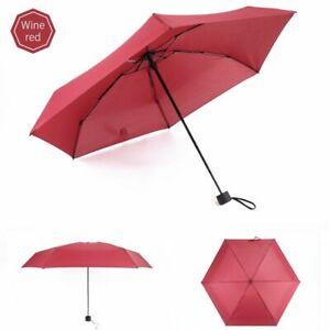 Portable Mini Umbrella For Men Women Outdoor Five-folding Umbrellas Sunshade New