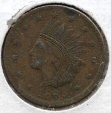1863 Civil War Token - New York - Indian Head Bd620
