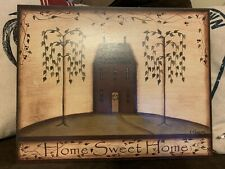 Primitive Wooden Home Sweet Home Sign