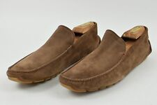 Bally Walder Driver Moccasin Men s Loafers Shoes Brown Suede size ... b7e2735a997