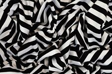 BLACK & WHITE SAILOR STRIPE T-SHIRT SINGLE JERSEY STRETCH FABRIC BY THE METRE