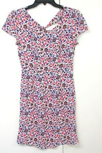 GAP women's dress size UK 4 new with tag knee length pink floral pattern
