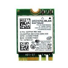 Genuine Dell Inspiron 15 Laptop WIFI Card 7260NGW P/N GPFNK 0GPFNK Tested Good