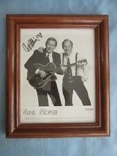 RARE SIGNED ORIGINAL W/COA CHET ATKINS FRAMED BLACK & WHITE 8 X 10 PHOTO