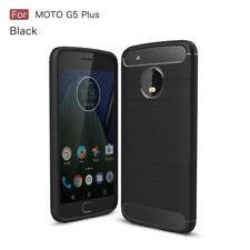 For Motorola Moto G5 Plus Shockproof Soft TPU Carbon Fiber Slim Case Cover
