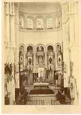 Robardet, Paray-le-Monial, nef et choeur de la basilique  Vintage albumen print.