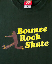 Exact Science Mens 80s Graphic Dk Green Cotton T Shirt Size L Bounce Rock Skate