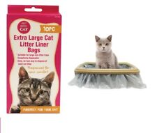 40 x Cat Kitty Litter Liners Bags Liner White Extra Large Brand