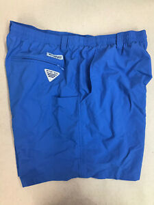 "Columbia Sportswear PFG Mens Shorts Omni-Shade Size XL 6"" Inseam Blue"