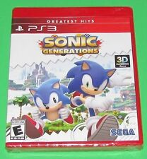 Sonic Generations Playstation 3 PS3 Factory Sealed