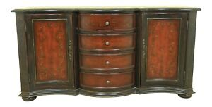 LF51753EC: Marble Top Paint Decorated Continental Style Sideboard