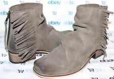 9d55209844 ✿SEYCHELLES Horde Fringe Vintage Taupe Suede Leather Back-Zip Boot 7 M NEW L