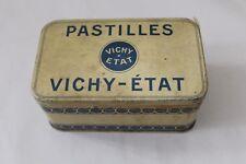 boite publicitaire ancienne en tôle Pastilles Vichy-Etat