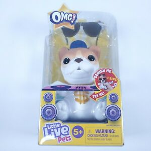 OMG Pets! Little Live Pets French Bulldog Soft Squishy Pet With Sunglasses NEW!