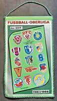 Orig. Wimpel DDR Oberliga 1987/88 Fußball Jahreswimpel Union Dynamo FCM Wismut