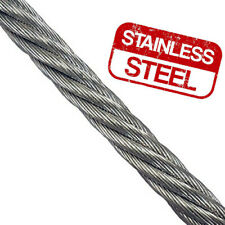 50 MTRS X 3MM 1//19  STAINLESS STEEL 316  WIRE ROPE FREE DELIVERY