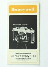 191625 Honeywell Pentax Spotmatic Informational brochure Genuine Original
