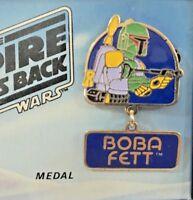 BOBA FETT MEDAL VINTAGE 1980 METAL STAR WARS COSPLAY EMPIRE STRIKES BACK NMIB!!!