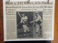 345-Page 2 Albums/Sporting News Articles(1946-1972)(w/BABE RUTH/JACKIE ROBINSON)