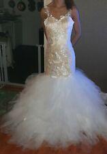 Trompete Mermaid Brautkleid Hochzeitskleid Tüll